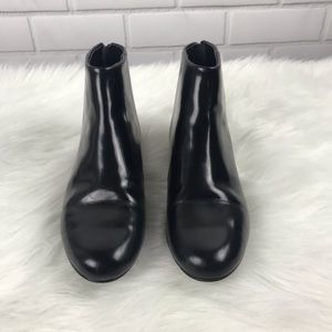 Theory black ankle booties   size 37.5